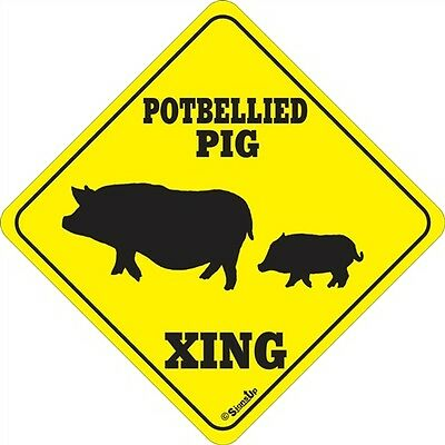 Potbellied Pig Xing Sign