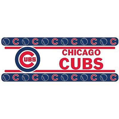 "Chicago Cubs Wall Border 5"" x 15' Peel & Stick"