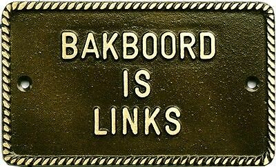 Bakboord is links