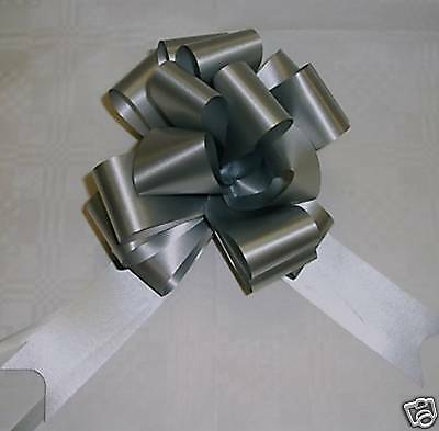 20 Silver  Pull Bows,  Pullbows,  Pew-Ends,    50Mm