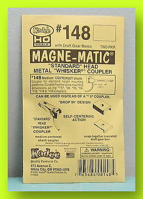 Kadee #148 Metal 'Whisker' Couplers - HO Scale - New
