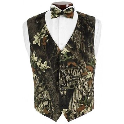 91271c7590ddd CAMO TUXEDO VEST Hunting Camouflage Formal Tie Set Wedding with ...