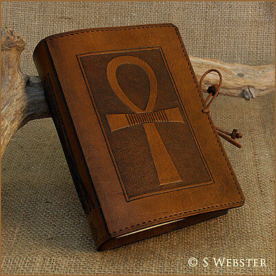 Egyptian Ankh Leather Journal, Book Of Shadows Notebook