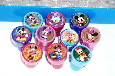 10 pcs Disney Mickey Mouse Party Self Inking Stamper **