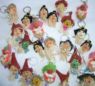 Lot 25 pcs Assort Halloween Witches Oranment Keychain Holiday Party Favor Gifts