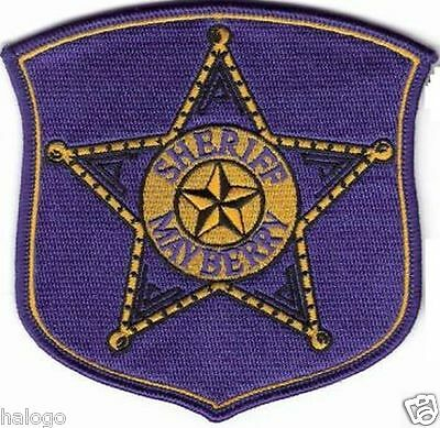 Andy Griffith Mayberry Sheriff Patch  - May02