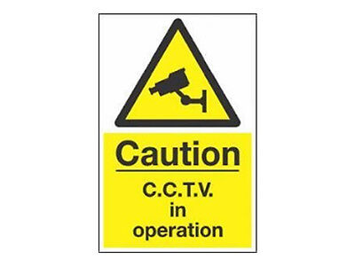 CCTV Camera Warning Sign (A5) All Weather Signage - Security Camera Sign