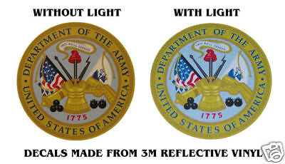 """SEAL DEPARTMENT OF THE ARMY BADGE DECALS 4"""" x 4"""""""