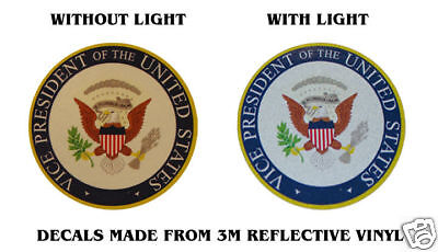 """SEAL VICE-PRESIDENT OF USA OBAMA BADGE DECALS 4"""" X 4"""""""