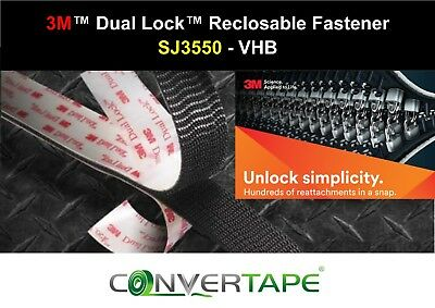 3M™ SJ3550 Dual Lock™ Heavy Duty Recloseable VHB Fastener 25mm x 1m