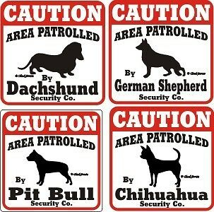 Caution Dog Security Sign Funny Novelty Pet Warning New