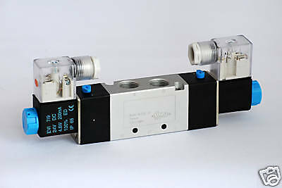 "1pc 1/4"" NPT 4 Way 2 Pos Double Solenoid Valve 110V AC MettleAir 4V220-08-AC110"