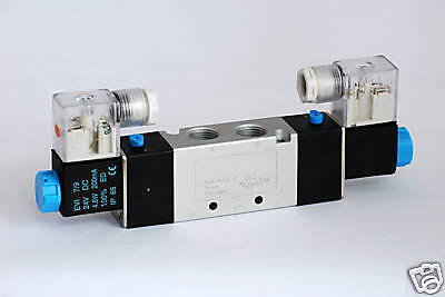 "1pc 3/8"" NPT 4 Way 2 Pos Double Solenoid Valve 220V AC MettleAir 4V320-10-AC220"