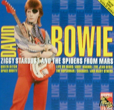DAVID BOWIE - Ziggy Stardust live GOLD DISC CD