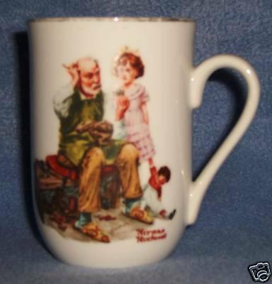 NORMAN ROCKWELL Museum the COBBLER MUG 1982