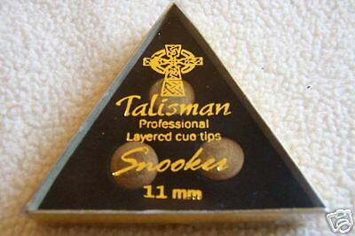 3 Talisman professional layered Snooker / Pool cue tips