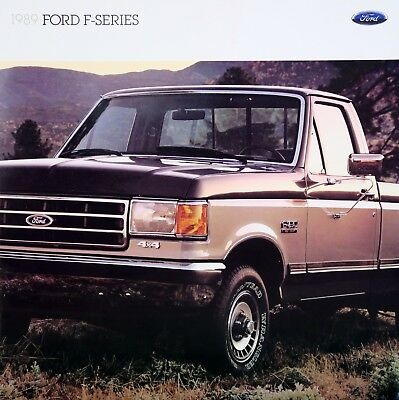 1989 Ford F-Series pickup truck new vehicle brochure