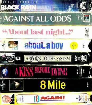 VHS Videotapes 8 Pack - A: Romance,Drama,Comedy, Action