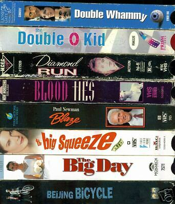 VHS Videotapes 8 Pack - C: Romance,Drama,Comedy, Action