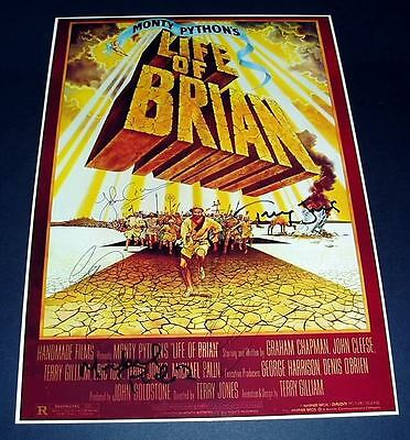 Life Of Brian Castx5 Pp Signed Poster 12X8 Monty Python
