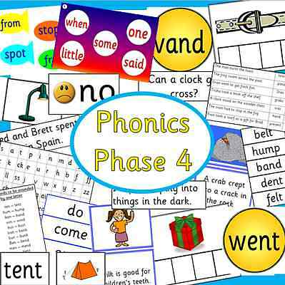 Phonics Phase 4 teaching resource pack on CD -Letters and Sounds- KS1/ EYFS/SEN
