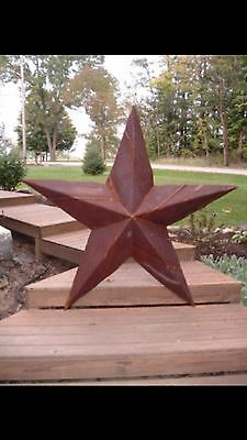 2-18''Rusted Metal Star Old Barn Tin Rusty Texas Sign**