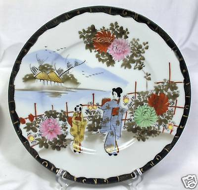 "BEAUTIFUL JAPANESE ""GEISHA GIRLS"" HAND PAINTED PLATE"