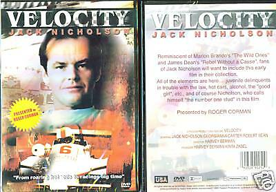 Velocity - Jack Nicholson (2004, DVD) NEW/SEALED