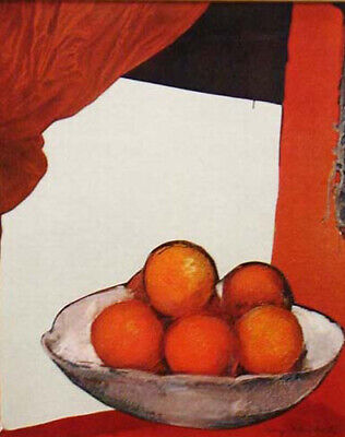 """Mary Helen Horty """"Still Life with Oranges by Cezanne"""" Original Collage, homage"""