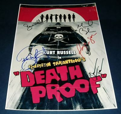Death Proof Movie Cast Pp Signed Poster 12X8 Tarantino