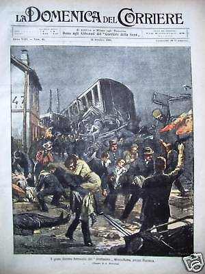 1906 Incidente Ferroviario Piacenza Incendio Lungara