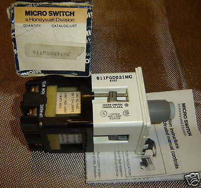 Microswitch 911Pgd031Mc Honeywell Microswitch Operator