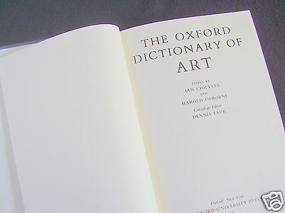 Chilvers/osborne: The Oxford Dictionary Of Art ~1988