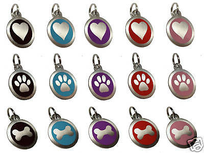 25mm Pet ID Dog Tag Disc Stainless Steel Engraved Free