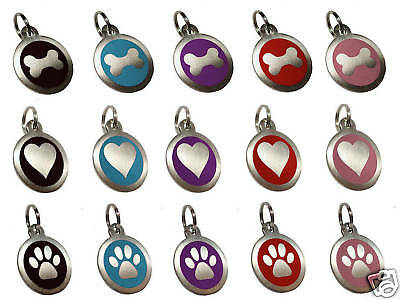 32mm Pet ID Dog Tag Disc Stainless Steel Engraved Free