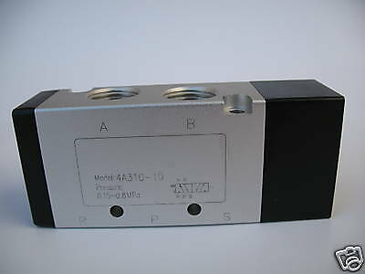 "1pc 4 Way 2 Pos Air Pilot Actuated Pneumatic Valve 3/8"" NPT MettleAir 4A310-10"