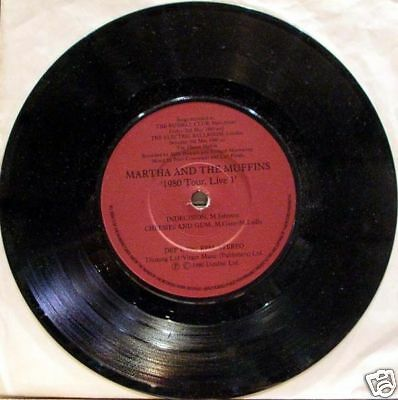"""Martha and the Muffins - 1980 tour live  EP 7inch 33"""""""