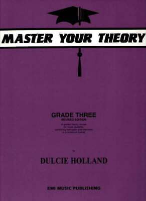 Master Your Theory Grade 3 Revised Edition Music Book by Dulcie Holland AMEB