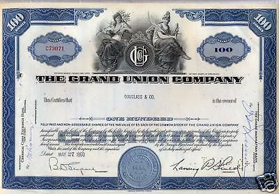 The Grand Union Company 4 Piece Stock Certificate Set