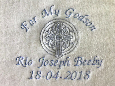 PERSONALISED GODSON//GODDAUGHTER CELTIC BLANKET GIFT