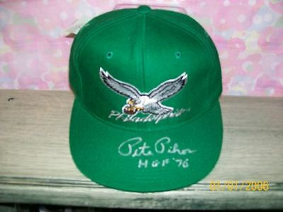 Pete Pihos Signed Throwback Eagles Hat Hof70 Rare! #2