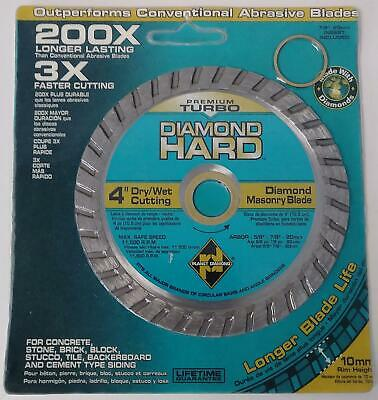 "Planet Diamond 4"" Turbo Diamond Masonry Blade 21104020"