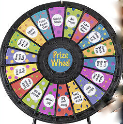 "Wheel of Fortune 31"" Prize Wheel with 18 Slots Tabletop"