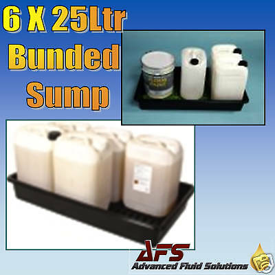 Bunded Drip Sump Spill Tray 6 x 25 Oil Chemical Storage