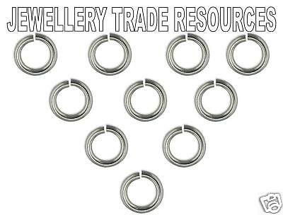 10 x 9ct White Gold 6mm Jump Ring Jewellery Making