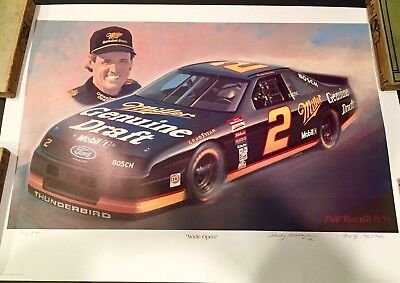 Rusty Wallace Lithograph Artwork Signed  Numbered Auto