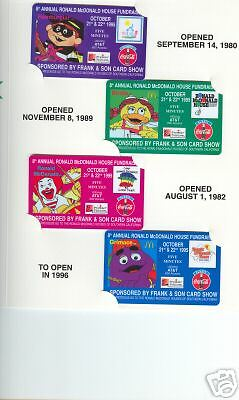 McDonald's Coca-Cola Frank & Son #3 phonecards set of 4
