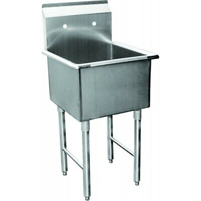 """1 Compartment Mop Sink 24""""x24"""" Stainless Steel"""