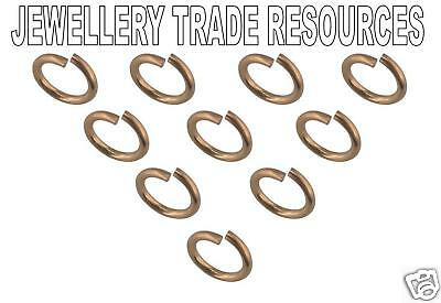 10 x 9ct Red Gold 5mm Jump Ring Jewellery Making