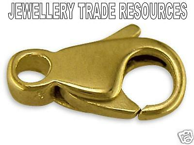 18ct Yellow Gold - 9mm Long - Carabiner Trigger Jewellery Clasp